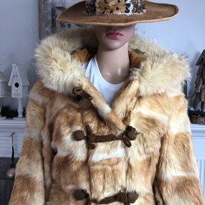 Gorgeous Vintage Fur Hooded Jacket
